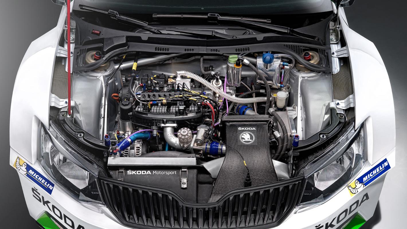 Skoda Fabia R5 - silnik 1.6l