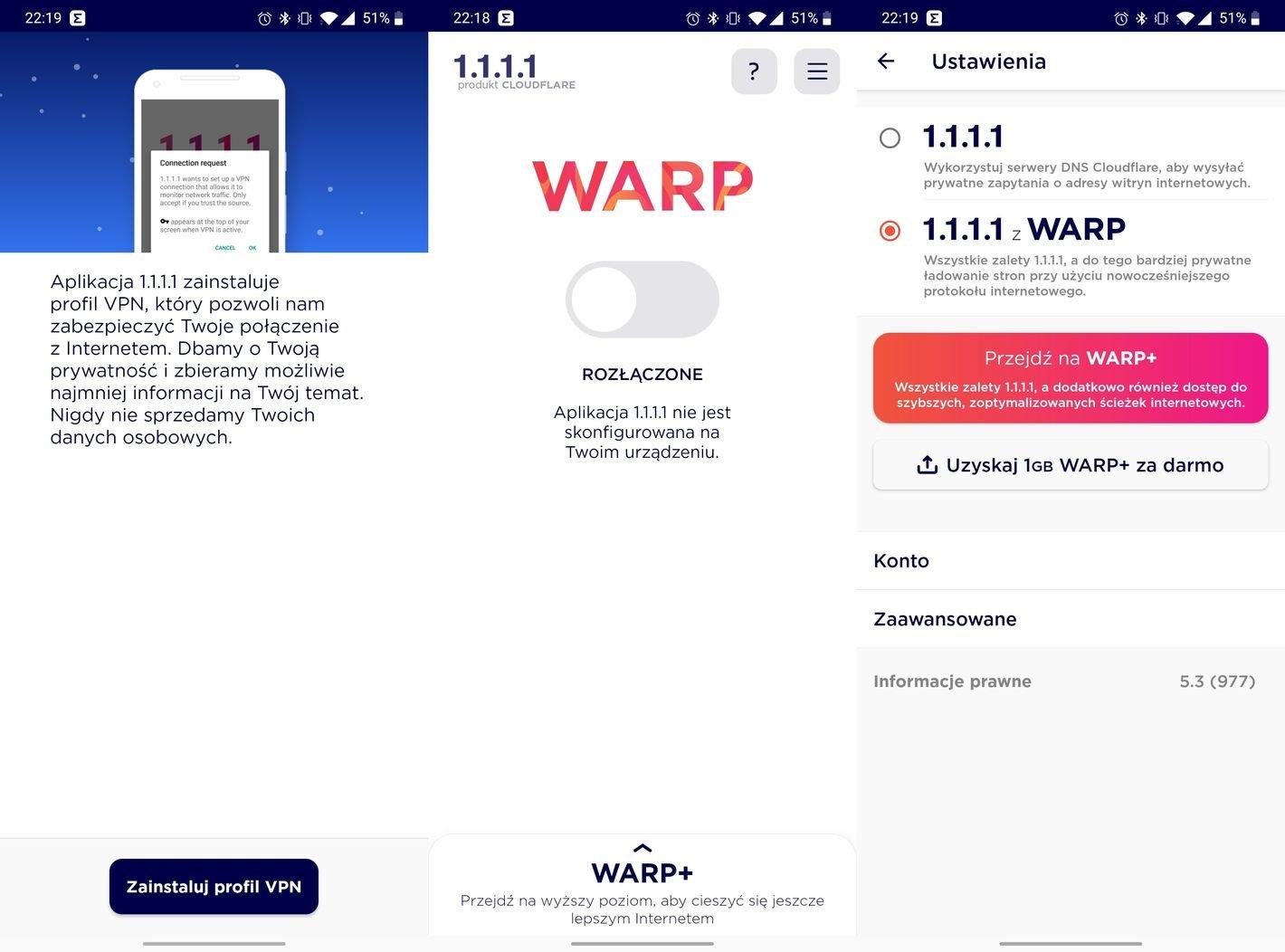 Cloudflare DNS Warp