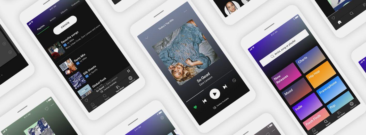 aplikacja mobilna spotify