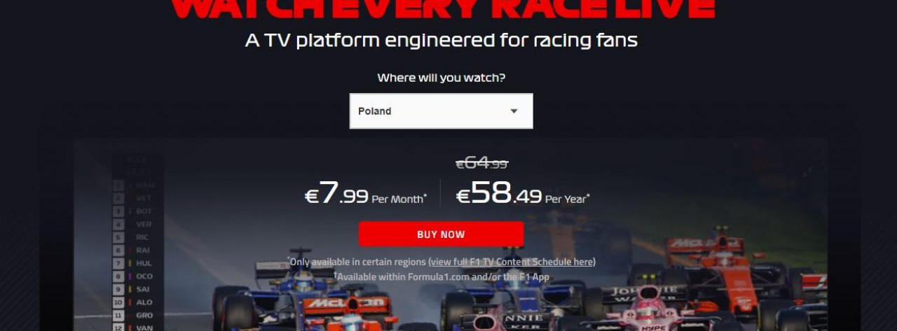 F1 TV Pro oraz F1 TV Access