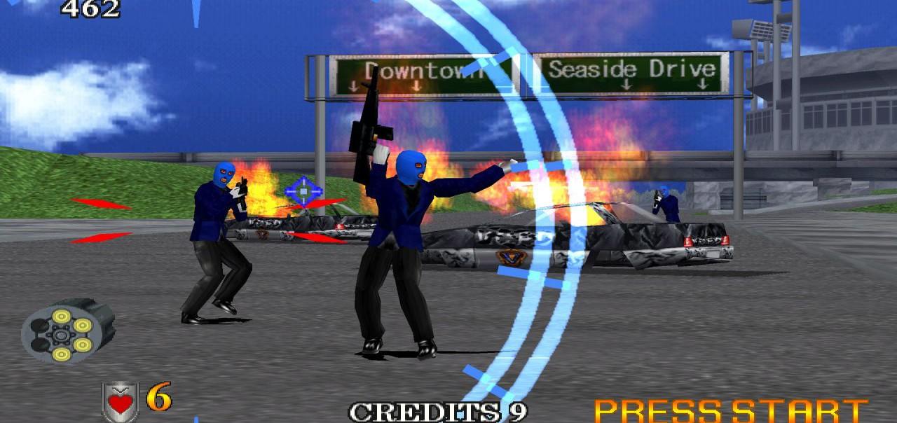 gra Virtua Cop 2 Dreamcast gameplay 2