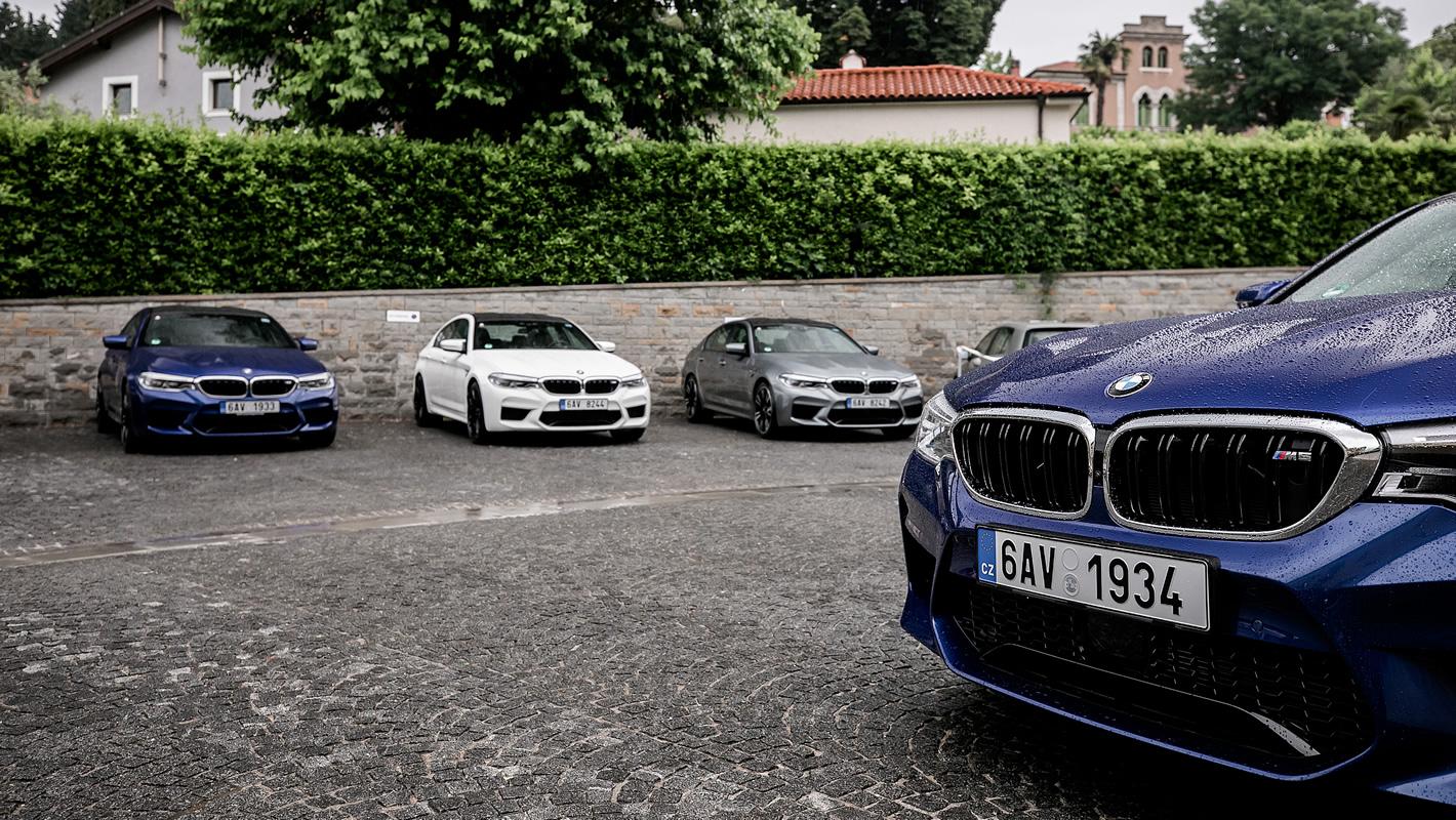 BMW M5 w trzech kolorach