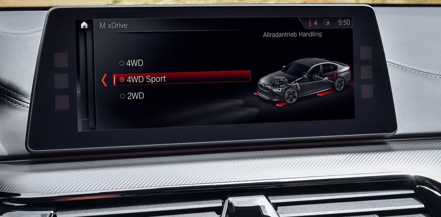 BMW M5 - aktywny tryb RWD
