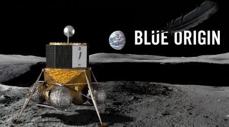 Blue Moon - grafika przedstawiająca projekt lądownika księżycowego