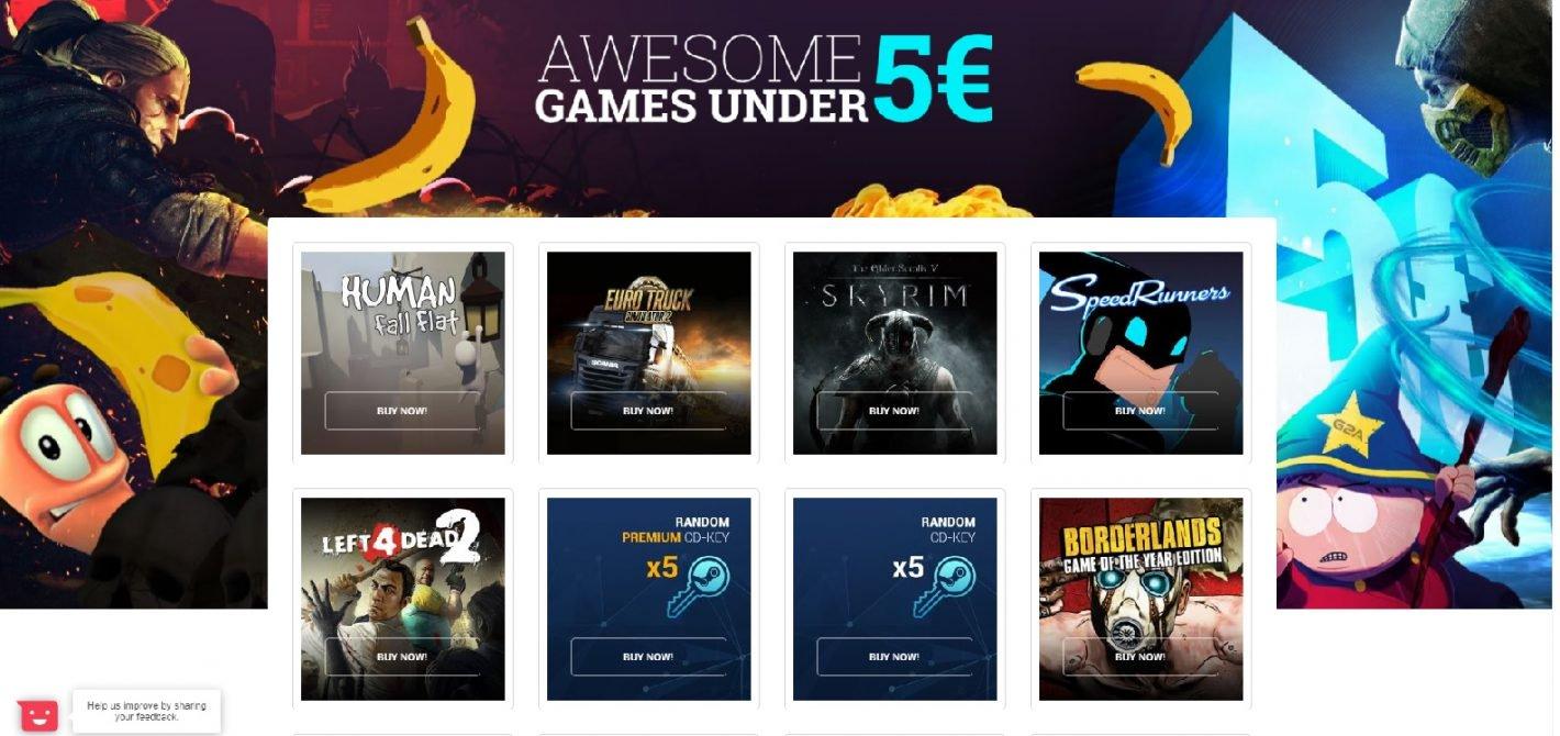 gry za mniej niż 5 euro