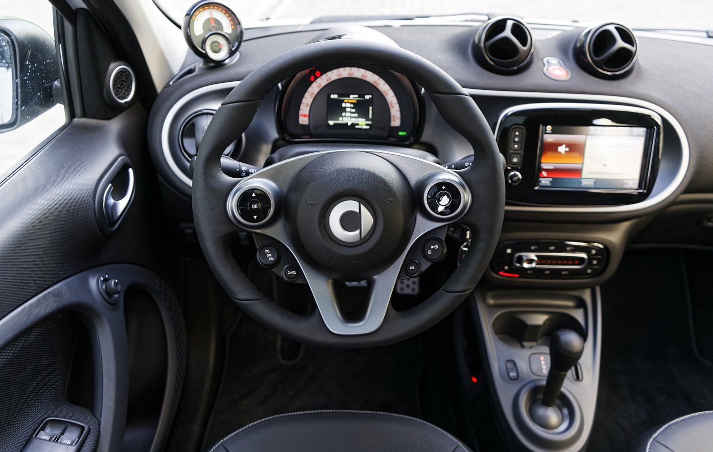 smart forfour EQ - widok kierowcy