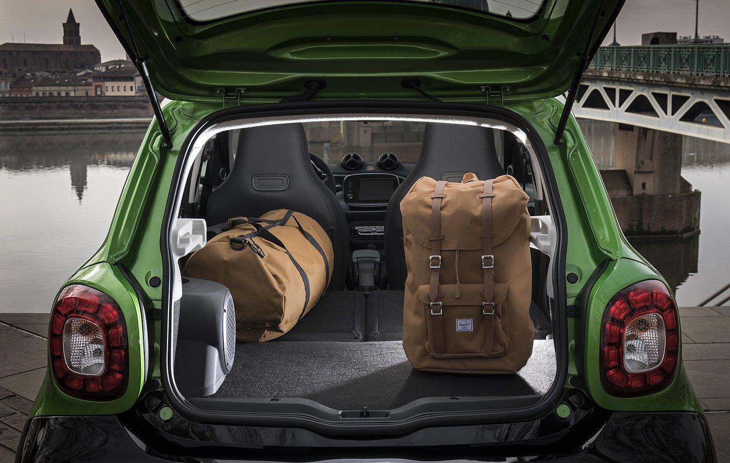 smart forfour EQ - bagażnik z rozłożonymi siedzeniami