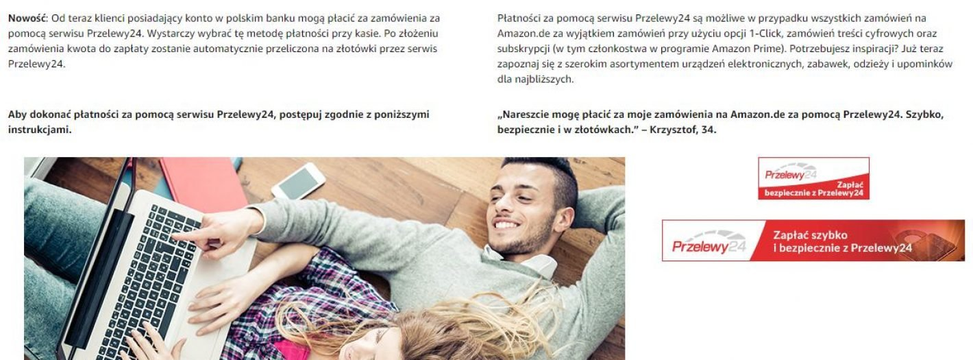 amazon Przelewy24