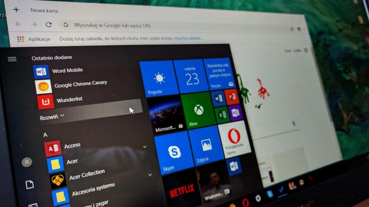 odświeżony widok Windows 10