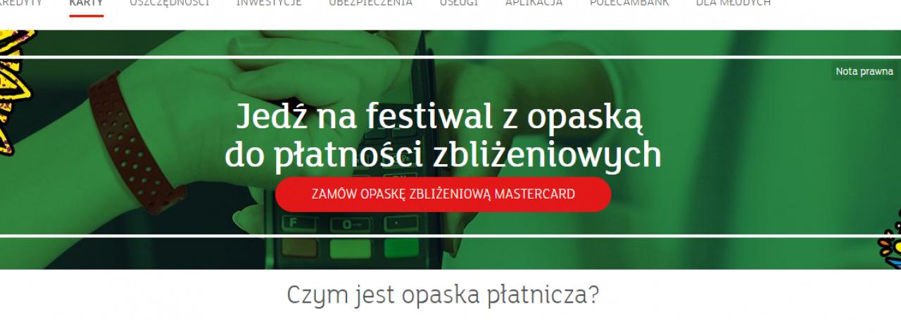 Festiwal z opaską do płatności zbliżeniowych
