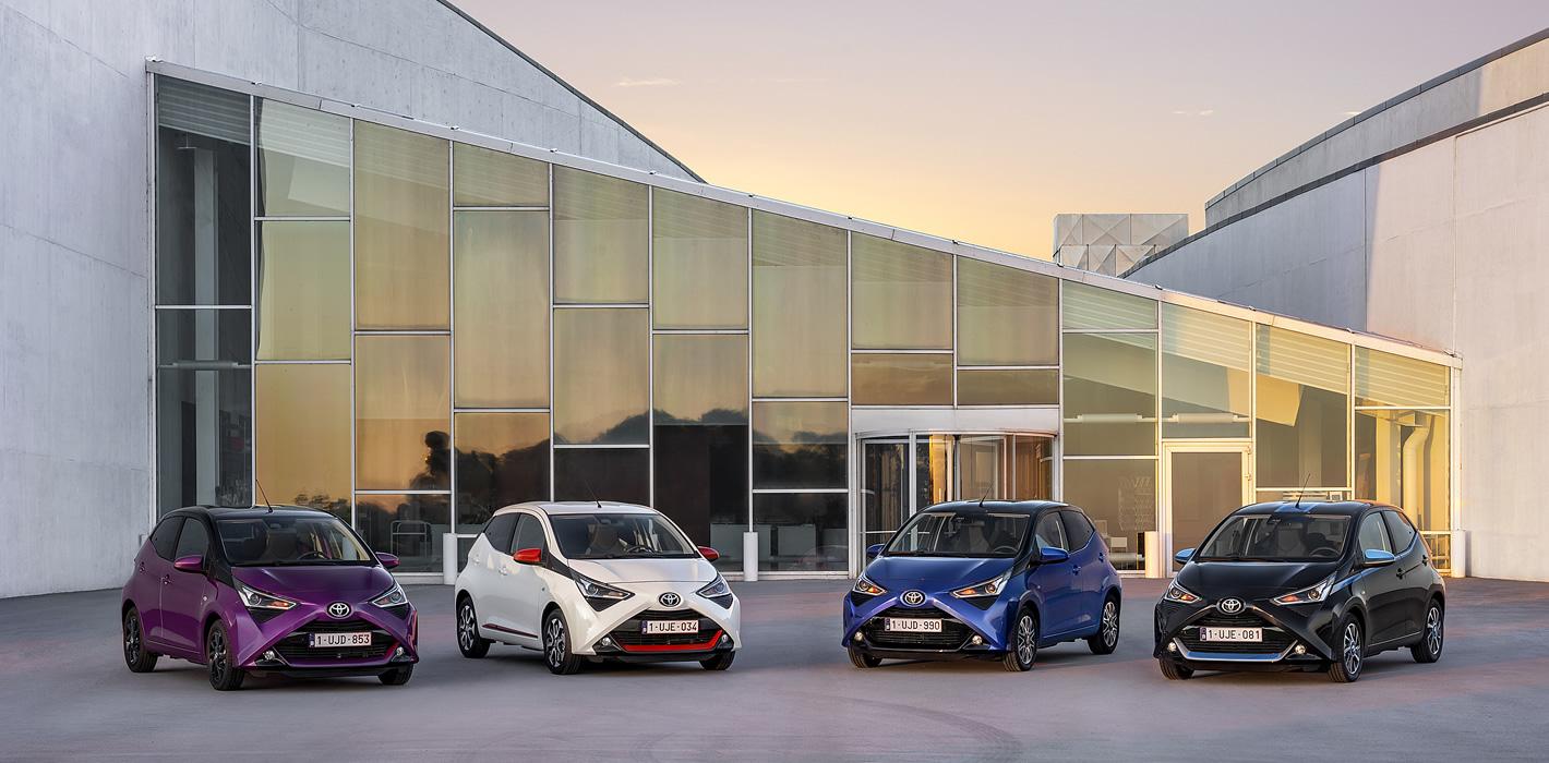 Toyota Aygo 2018 w czterech kolorach