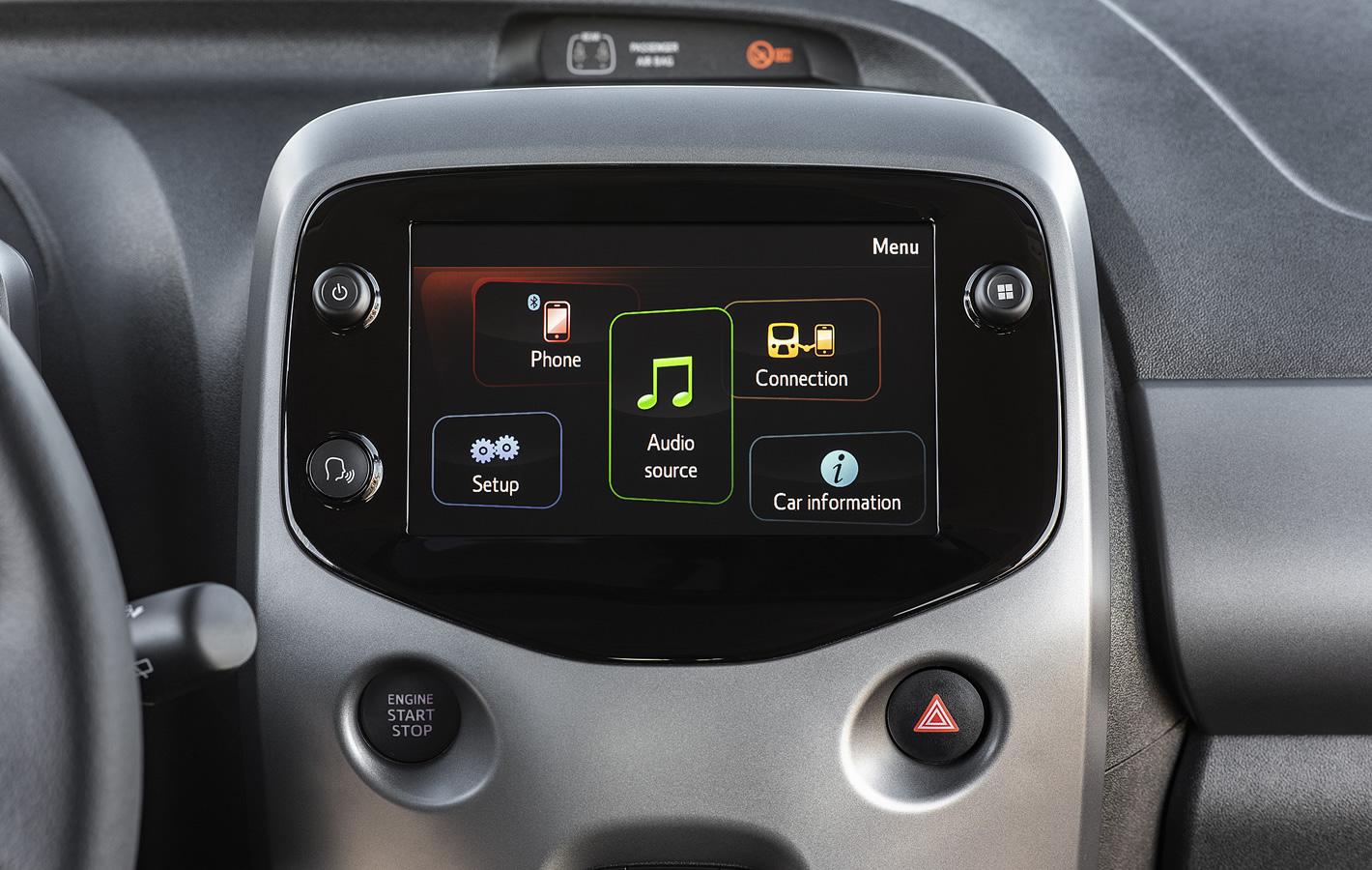 Toyota Aygo 2018 - menu główne