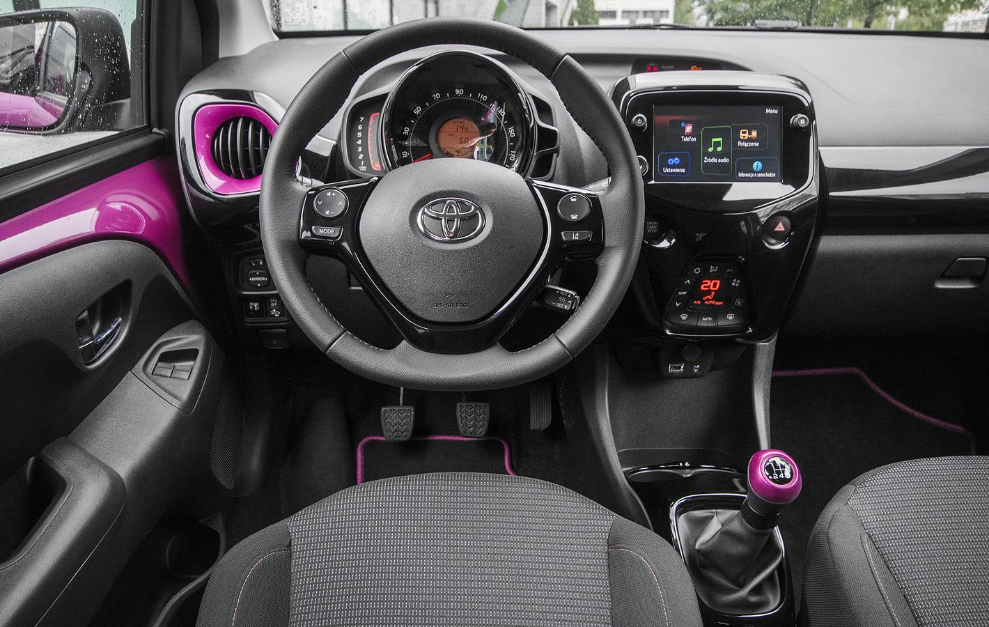 Toyota Aygo 2018 - kokpit centralny