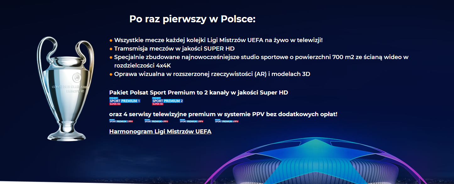 Liga Mistrzów dostępna na platformie Cyfrowego Polsatu