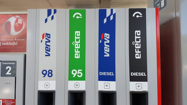 nowe oznaczenia na stacjach benzynowych