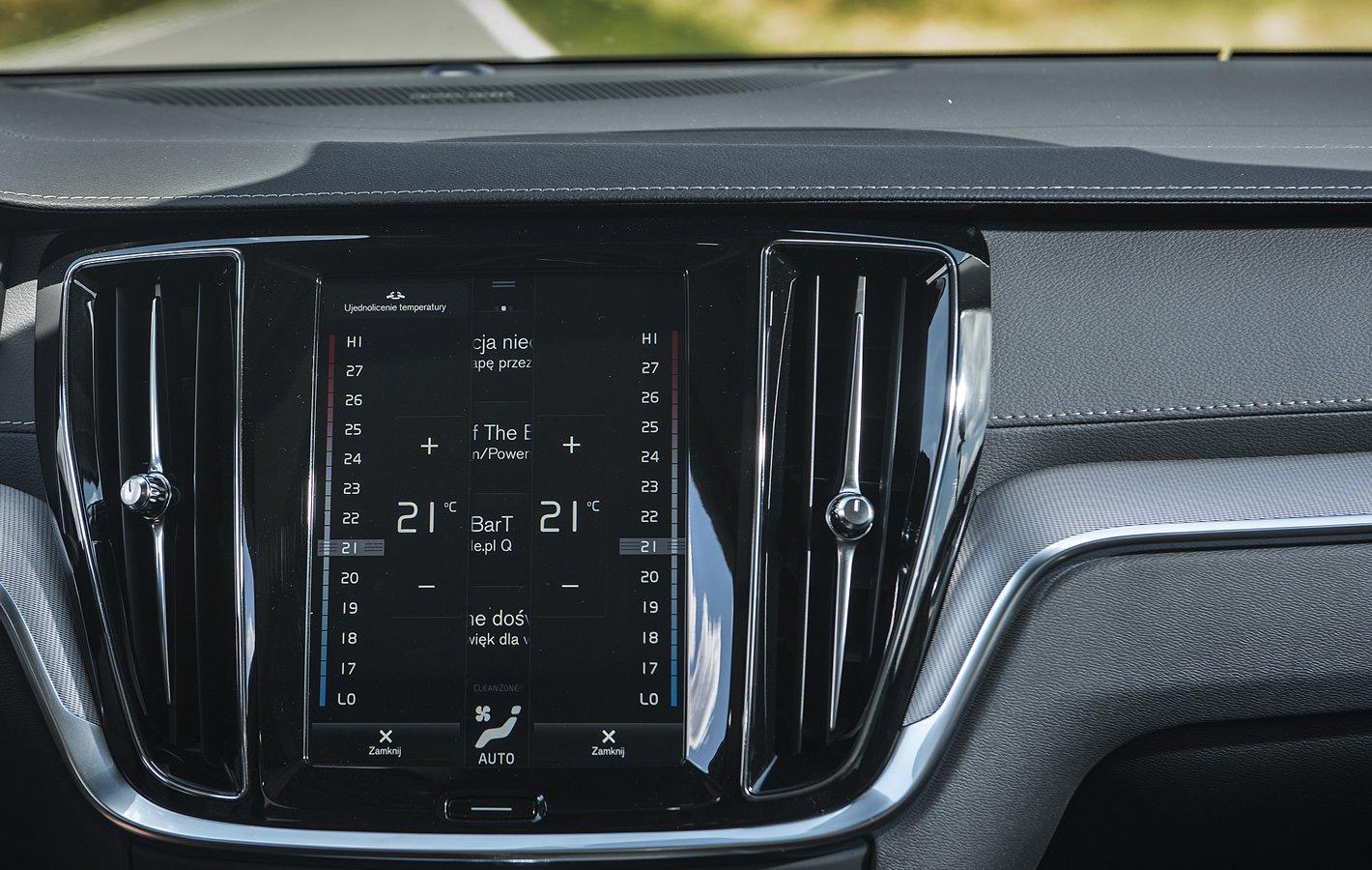 Volvo V60 - sterowanie klimatyzacją