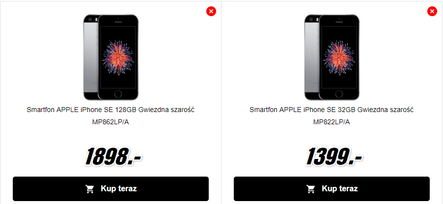 iPhone SE - cena MediaMarkt