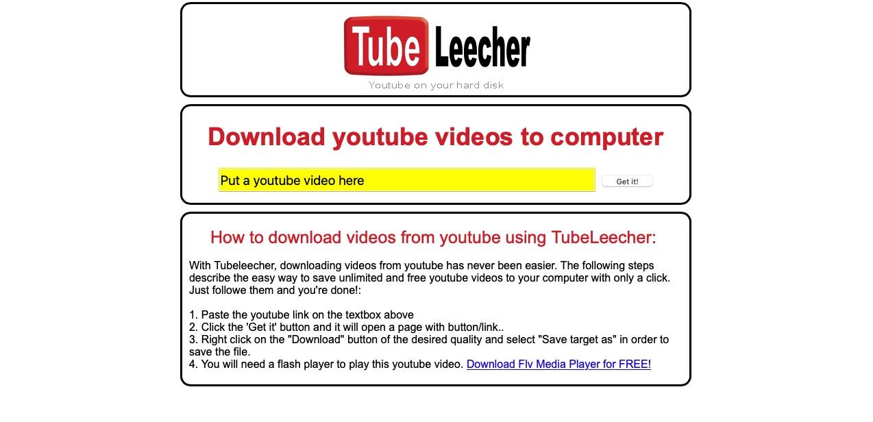 tube leecher pobieranie z youtube