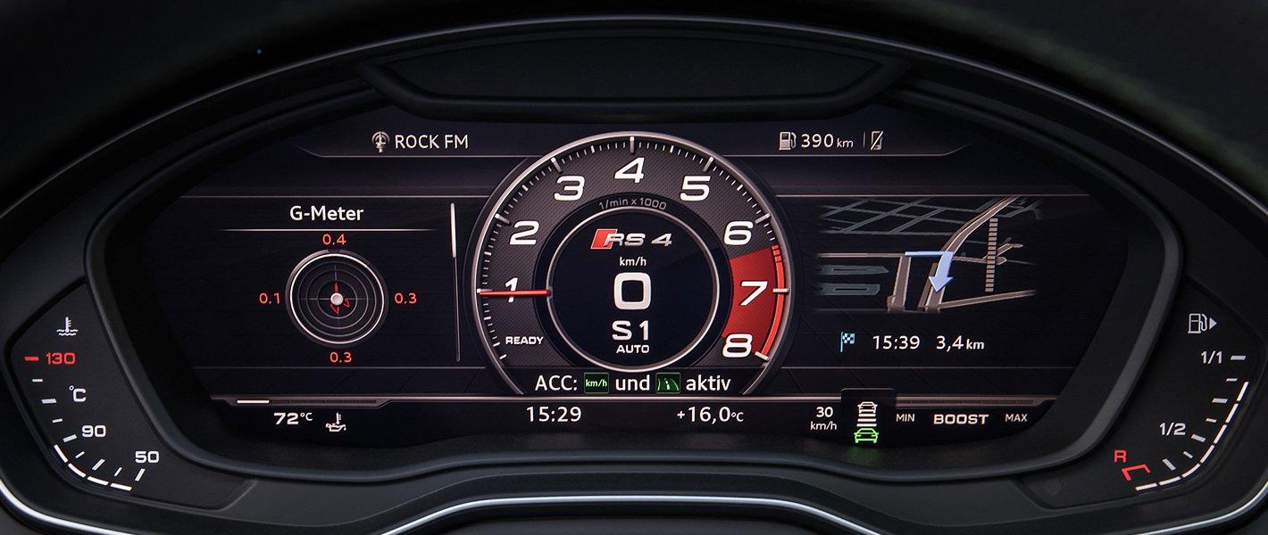 Audi RS 4 - wirtualny kokpit