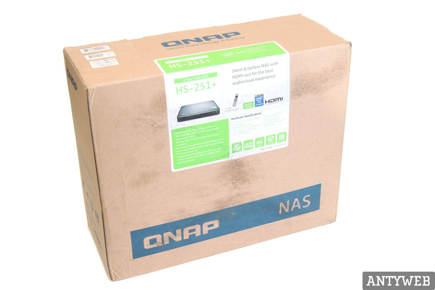 QNAP HS-251+ pudełko