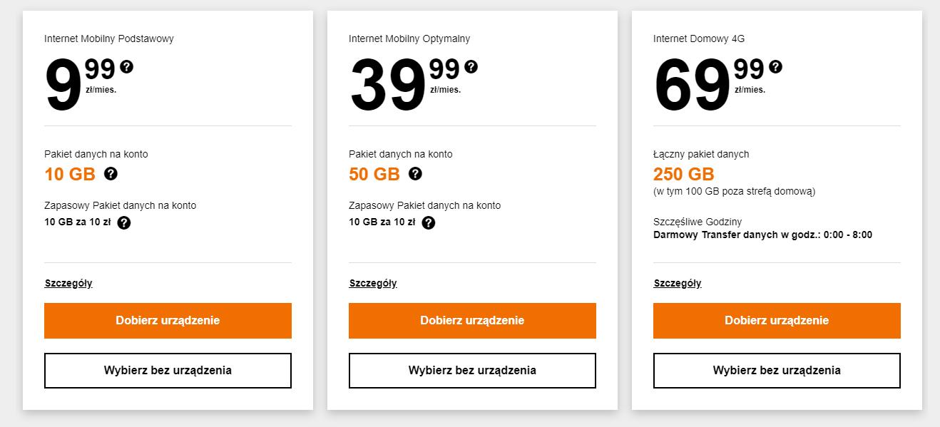 Mobilny internet domowy - Orange