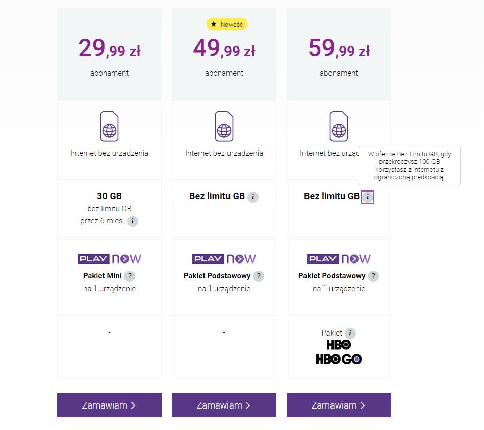Mobilny internet domowy - Play