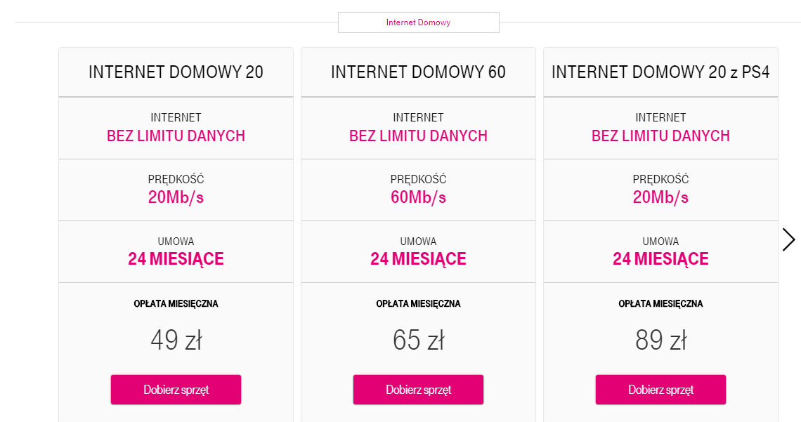 Mobilny internet domowy - T-Mobile