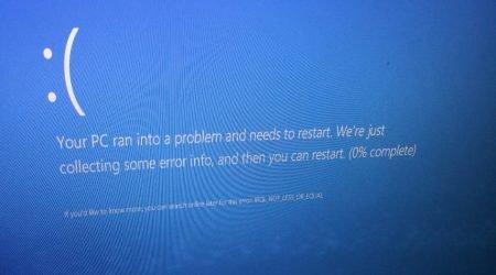 błędne działanie Windows 10