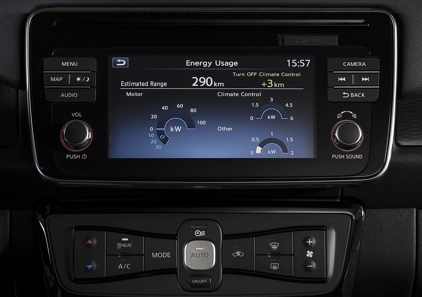 Nissan Leaf II - zaawansowane statystyki jazdy