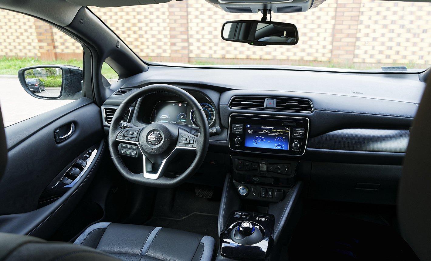 Nissan Leaf II - widoczność ze środka