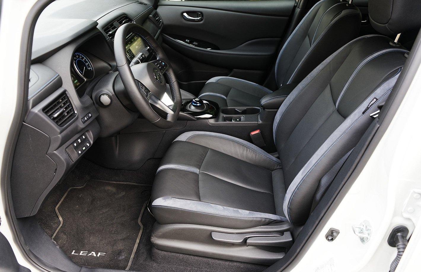 Nissan Leaf II - fotel kierowcy