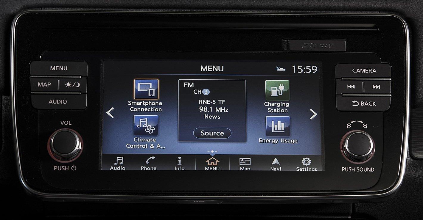 Nissan Leaf II - system multimedialny