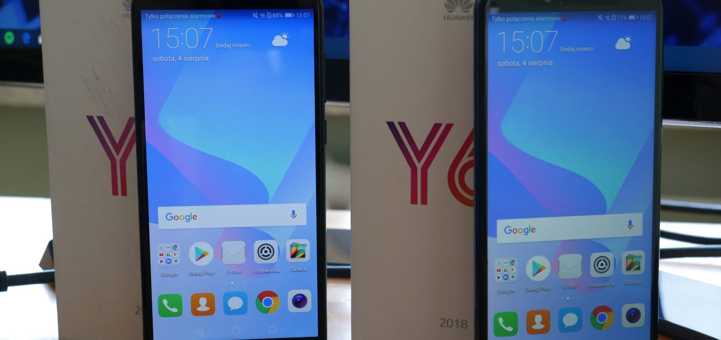 Recenzja Huawei Y6 2018 i Huawei Y6 Prime 2018  Test