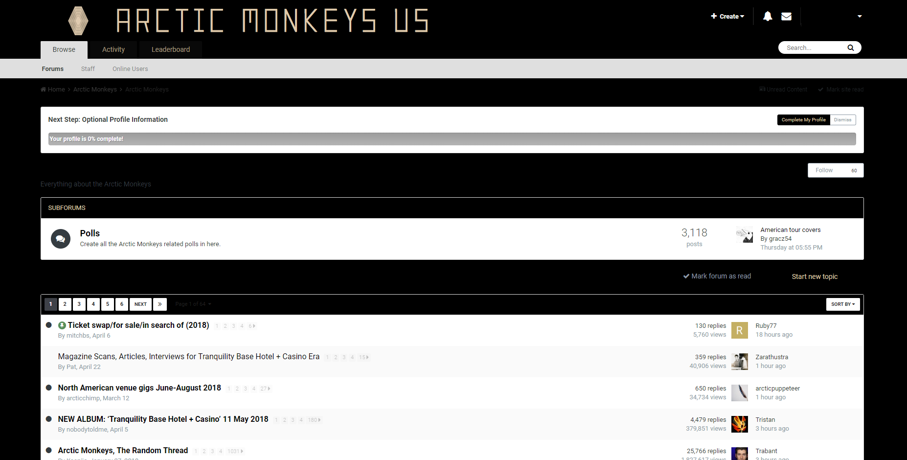 arctic monkeys forum internetowe
