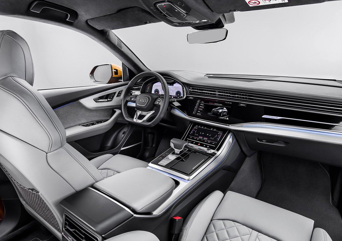 Audi Q8 - perfekcyjna jakość wnętrza