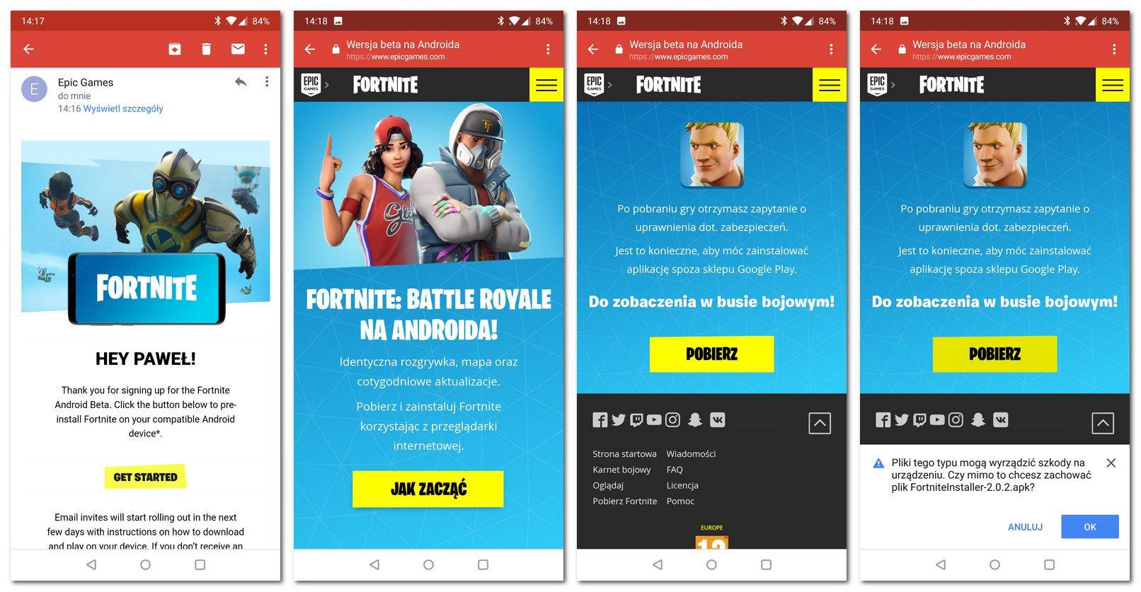 Fortnite Android pobieranie i instalacja