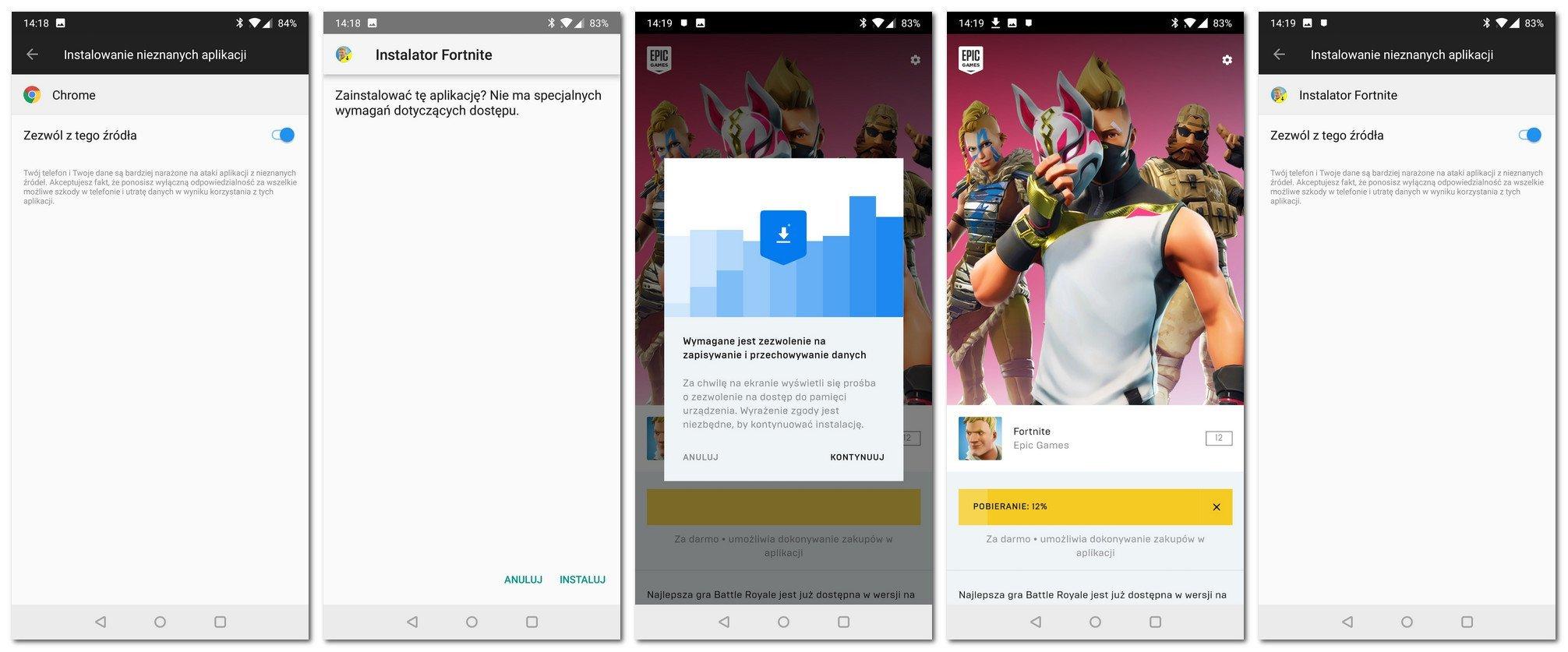 Fortnite Android pobranie i instalacja