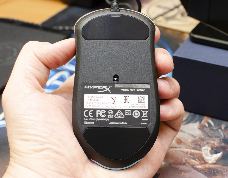 HyperX Pulsefire Surge RGB spód ślizgacze