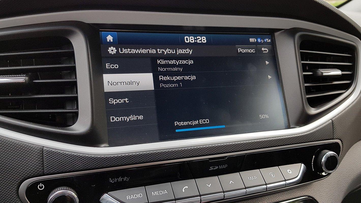 Hyundai IONIQ Electric opcje układu napędowego