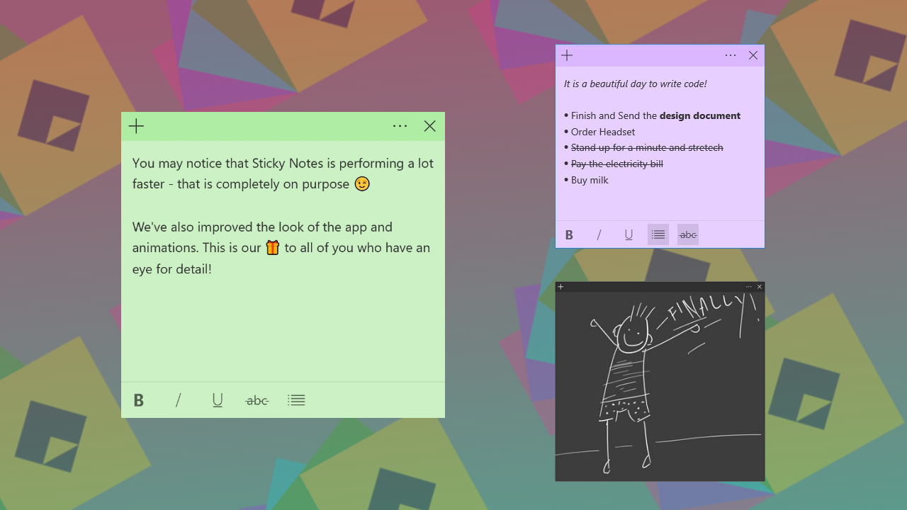 Sticky Notes na Windows oraz iOS-a i Androida