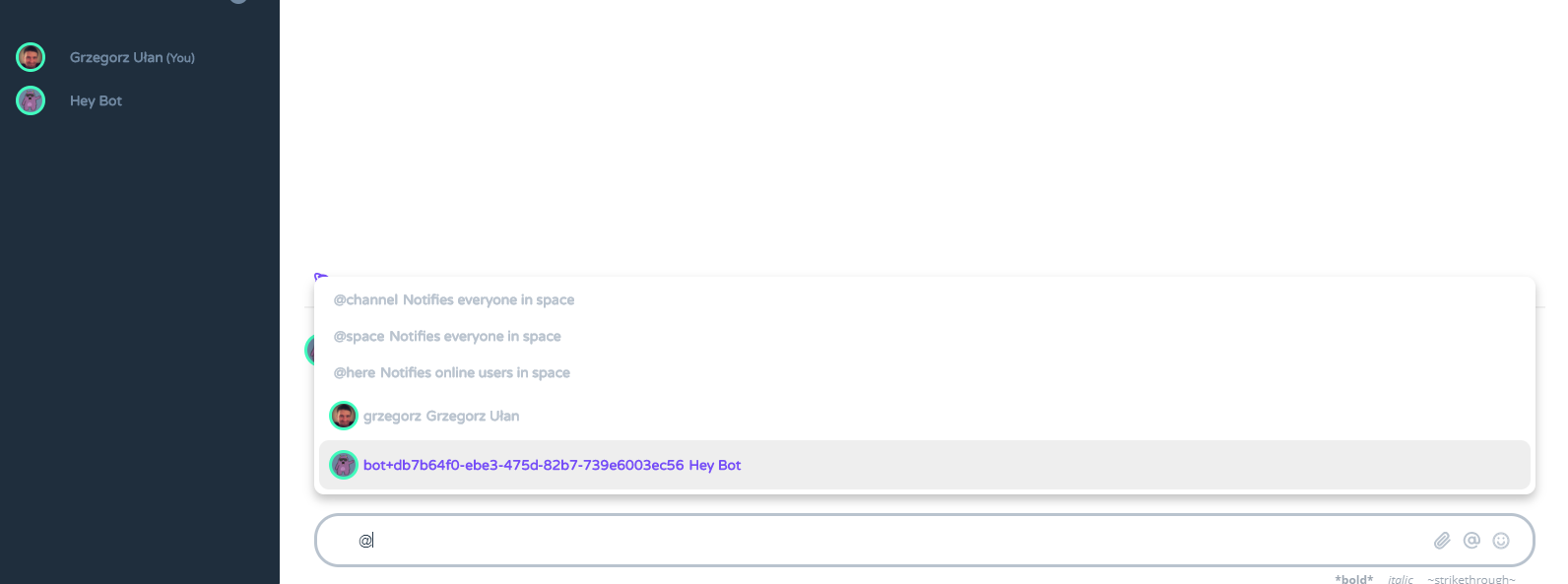 Heyspace - chat