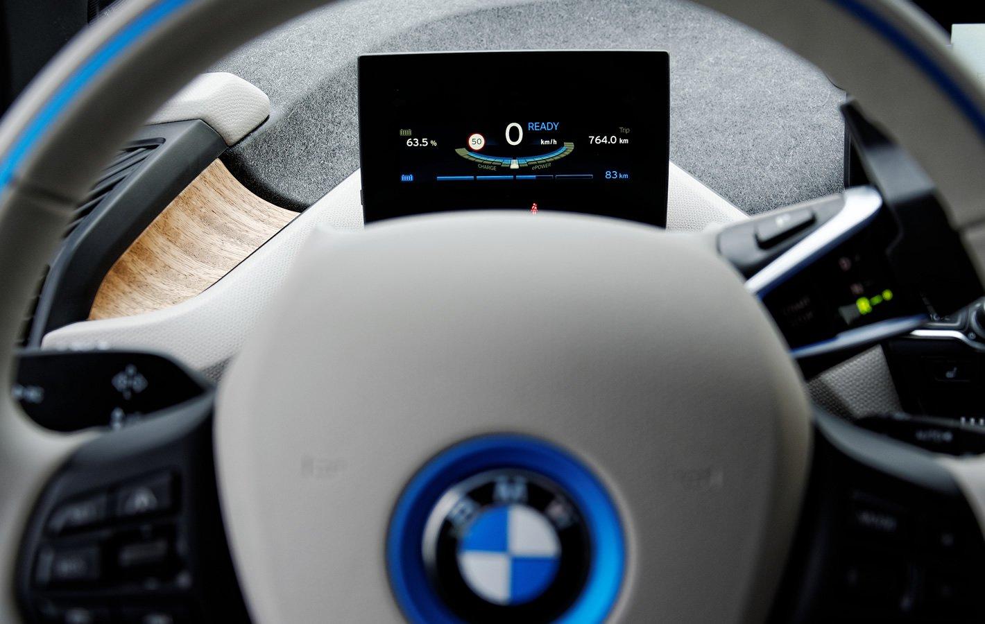 BMW i3 94 Ah - ekran kierowcy
