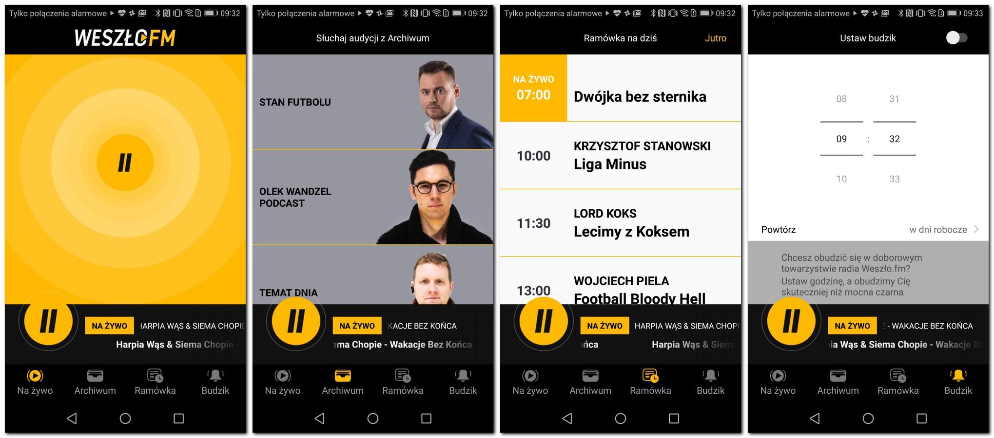 Weszło FM - aplikacja mobilna
