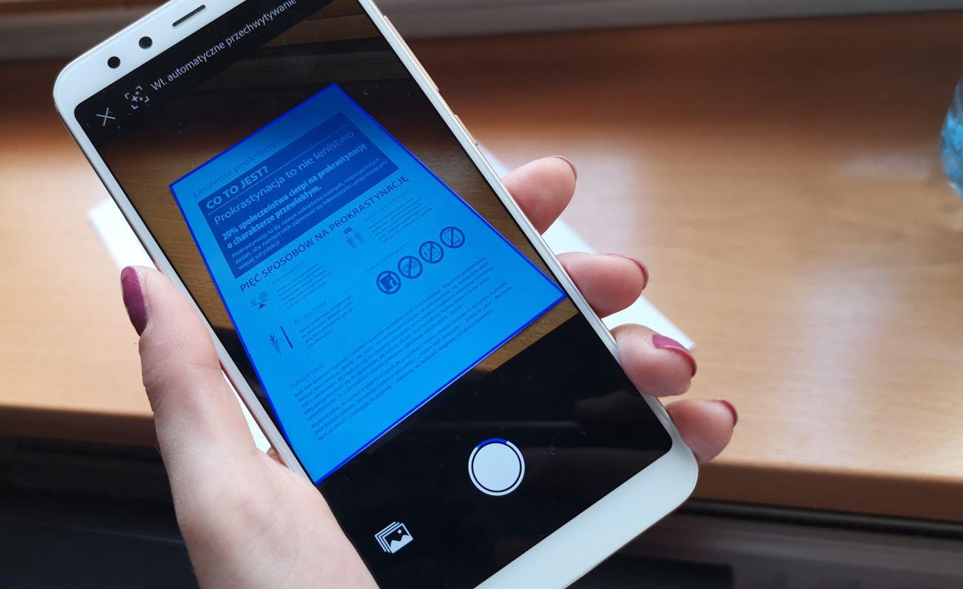 Adobe Scan dokumenty skanowanie Xiaomi
