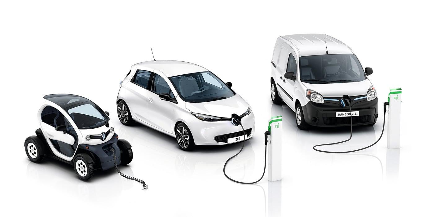 Paleta elektrycznych aut Renault