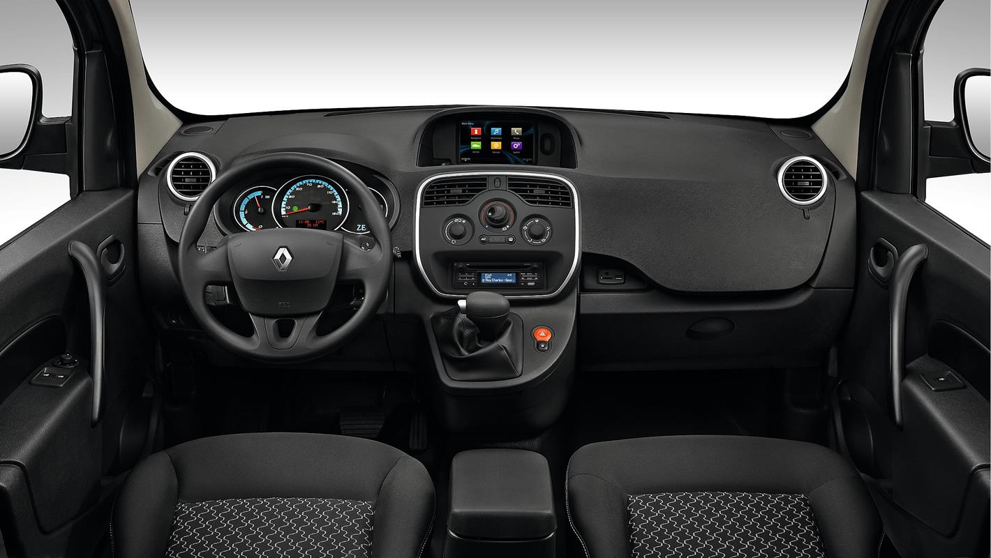 Renault Kangoo Z.E. - widoczność ze środka