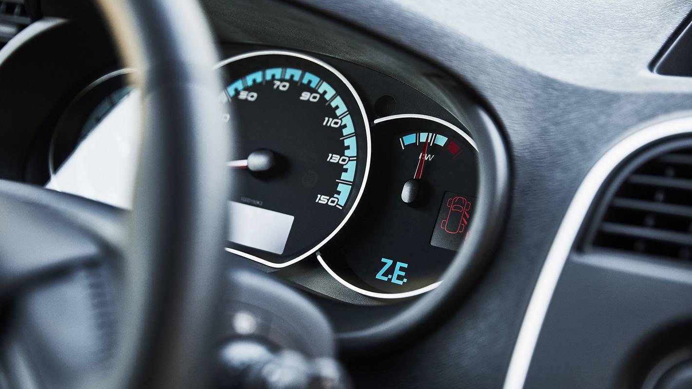 Renault Kangoo Z.E. - wskaźnik chwilowego zużycia energii