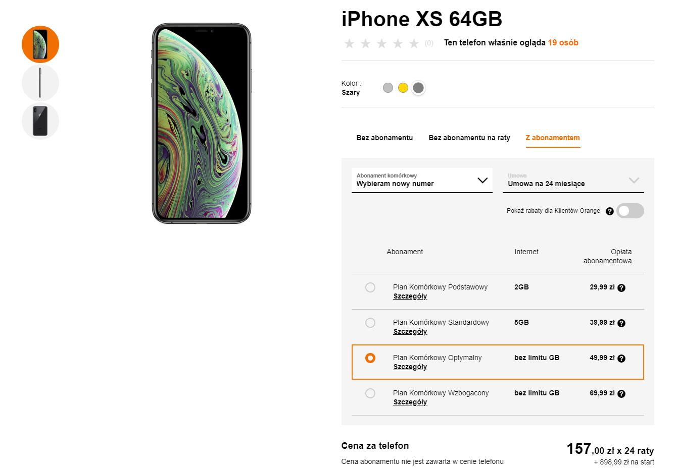 iPhone XS w Orange