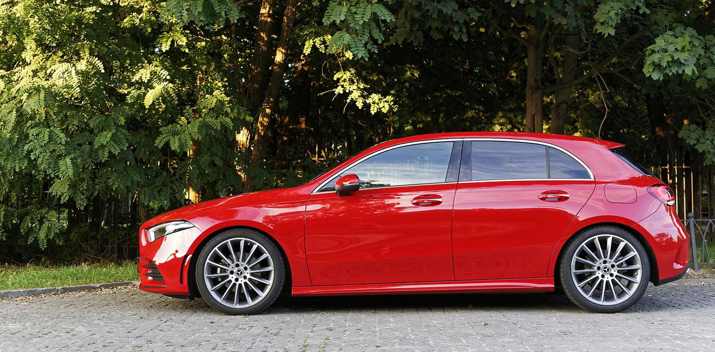 Mercedes-Benz Klasy A 200 z boku