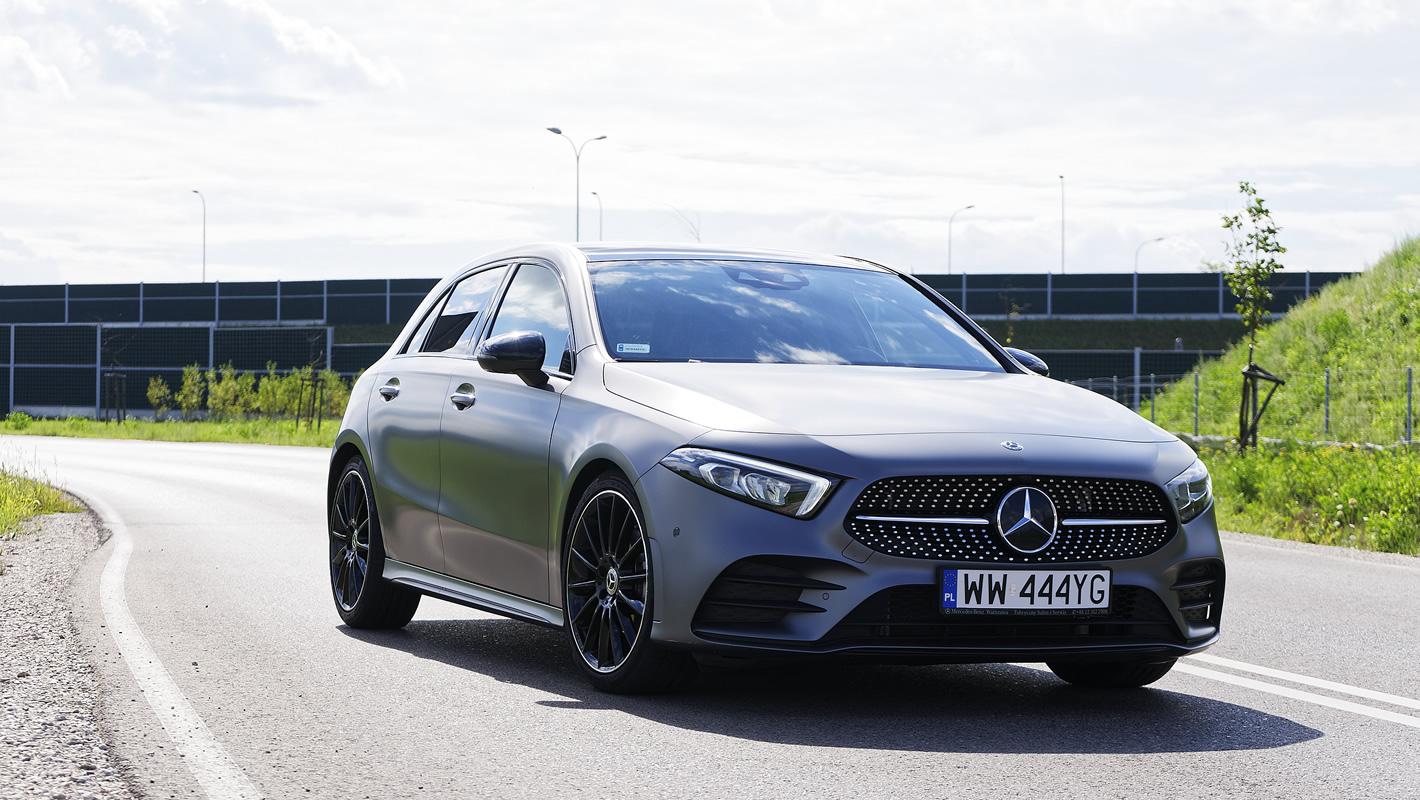 Mercedes-Benz Klasy A 200 w matowym kolorze